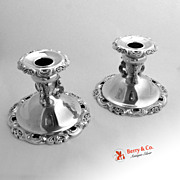 Baroque Wallace Console Candleholders Silverplate 1950 Pair