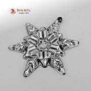 Christmas Snowflake Ornament Gorham Sterling Silver 1970