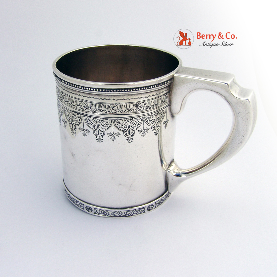 Antique Tiffany And Company Baby Cup Sterling Silver 1880
