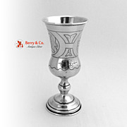 Russian 84 Standard Silver Kiddush Cup