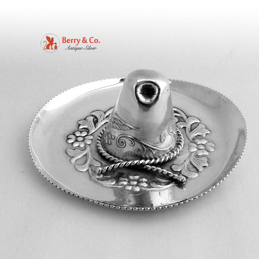 Sombrero Dish Mexican Sterling Silver 1970