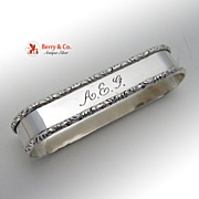 Oval Napkin Ring Applied Border Sterling Silver Lunt 1930