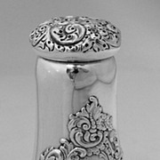 Sugar Shaker Floral Scroll Sterling George Shreve San Francisco 1885