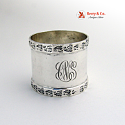 Aesthetic Foliate Scroll Napkin Ring Sterling Silver 1900 CNS