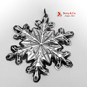 Christmas Snowflake Ornament Gorham Sterling Silver 1973