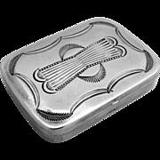 Native American Pill Box Sterling Silver 1940