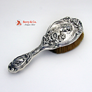 Art Nouveau He Loves Me Clothes Brush Sterling Silver Unger Brothers 1900