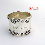 Shell Scroll Napkin Ring Towle Sterling Silver 1900 Florence