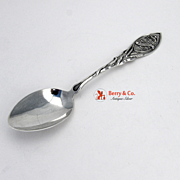 Canadian Souvenir Spoon Crowned Shield Wheat Dominion Jewelry 1900 Sterling Silver
