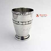 Beaker Sterling Silver Danish Silver 1915 Moe and Son