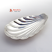 Shell Form Serving Bowl Sterling Silver Reed and Barton X300