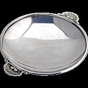 Small Dish Shell Handles Sterling Silver Georg Jensen 1950
