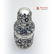 Perfume Bottle Holder Repousse Floral Gorham Sterling Silver 1892 Vera