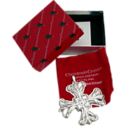 Christmas Cross Ornament Sterling Silver Reed and Barton 1994