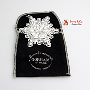 Christmas Ornament Snowflake Sterling Silver Gorham 1971