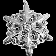 Christmas Ornament Snowflake Sterling Silver Gorham 1991