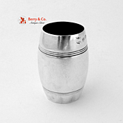Barrel Shape Vodka Shot Sterling Silver Birmingham 1938