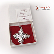 Christmas Ornament Snowflake Cross Sterling Silver Reed and Barton 1987