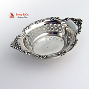 Cromwell Nut Bowl Pierced Sterling Silver Gorham 1900