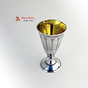 Soviet Vodka Shot Sterling Silver 875 Engraved