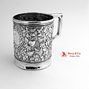 Repousse Cup Sterling Silver 1880