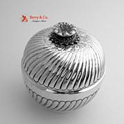 Round Box Candy Sterling Silver Turkiye