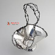 Basket Sterling Silver Pierced Handle