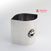 Toothpick Holder Sterling Silver Hand Made 1940