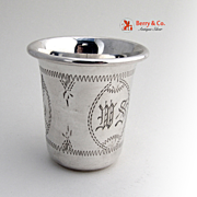 Vodka Or Kiddush Cup Sterling Silver Engraved