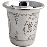 Vodka Or Kiddush Cup Sterling Silver Engraved