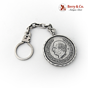 Five Peso Key Chain Sterling Silver 1960