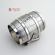 Barrel Shape Napkin Ring Silverplate 1880