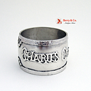 Arts and Crafts Napkin Ring Sterling Silver 1920