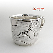 Art Nouveau Cup Under Brothers Sterling Silver 1910