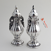 Baroque Salt And Pepper Shakers Wallace Silverplate 1941