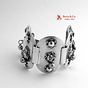 Bracelet Applied Flowers Sterling Silver 1940