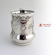 Cupids Cup Mug Sterling Silver Shiebler 1890