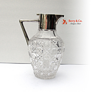 Pitcher Sterling Silver Cut Glass Birmingham