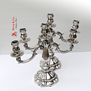 Baroque Candelabra Pair 800 Silver Italy 1920