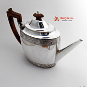 Teapot Sterling Silver Sheraton Style Sheffield England 1799
