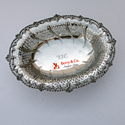 Serving Bowl Sterling Silver Open Work London 1954