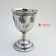 Art Nouveau Cordial Cup 800 Silver Germany