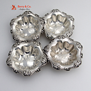 Nut Cups Sterling Silver Reed and Barton 4 Pieces 1900
