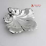 Leaf Serving Dish Sterling Silver Weidlich 1930