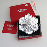 Christmas Snowflake Ornament Gorham Sterling Silver 1992