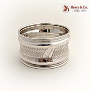 Napkin Ring Concave Coin Silver 1890