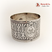 French Napkin Ring Silver 1890
