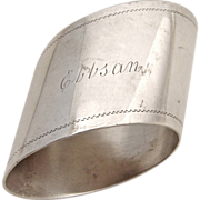 French Napkin Ring Silver 1910