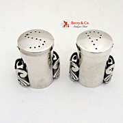 Mexican Salt and Pepper Shakers Sterling Silver Victoria 1950