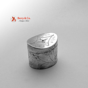 Dutch Second Standard Silver Peppermint Box 1830